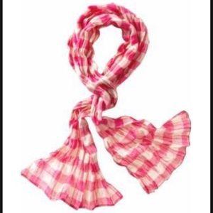 GAP pink gingham scarf